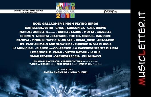 Roma: la lineup completa del Concerto del Primo Maggio 2019