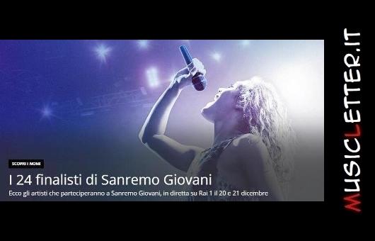 I 24 finalisti di Sanremo Giovani 2019