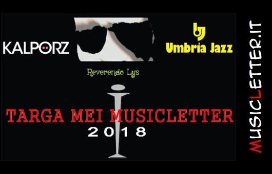 Targa Mei Musicletter 2018