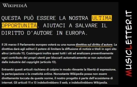 L'appello di Wikipedia circa il voto del Parlamento europeo sulla nuova direttiva del diritto d'autore | Notizie